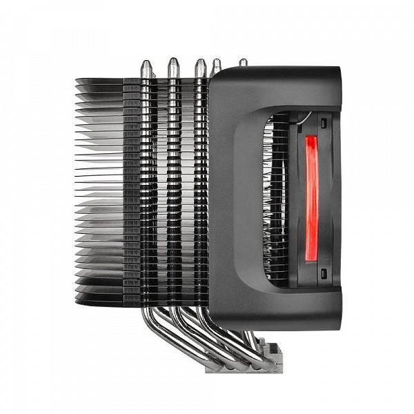 Cooler Para Processador - Thermaltake RIING SILENT 12cm AMD-Intel Pro Red-500 1400RPM CL-P021-CA12RE-A