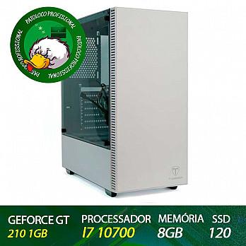 Computador Patoloco (Engenharia) i7 10700, Gt 210, 8GB DDR4, SSD 120