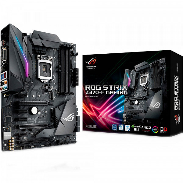 PLACA MÃE ASUS ROG STRIX Z370-F GAMING LGA1151 USB3.1 90-MB0V50-M0EAY0 - INTEL