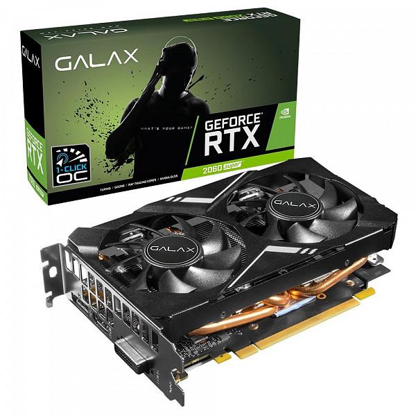 Placa de Vídeo Galax NVIDIA GeForce RTX 2060 Super ELITE (1-Click OC) Mini 8GB, GDDR6 - 26ISL6HP09MN