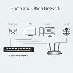 Switch 08 Portas Tp-link Ls108g Gigabit 10/100/1000mbps