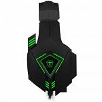 Headset Gamer T-Dagger Rocky, Drivers 50mm, Preto e Verde - T-RGH206