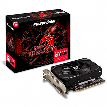 Placa de Vídeo PowerColor Red Dragon AMD Radeon RX 550 2GB, GDDR5 - AXRX 550 2GBD5-DH