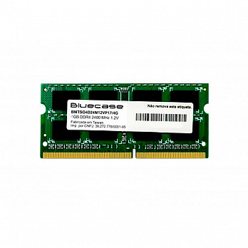 Memória Notebook BLUECASE 8GB DDR4-2400 SODIMM BMTSO4D24M12VP17/8G