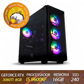 Computador Gamer Patoloco Insane Intel Core i5 9600kf, RTX 3060TI, 16GB DDR4, SSD 240