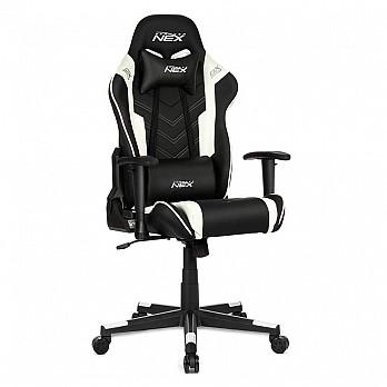 Cadeira Gamer DXRacer NEX Preta / Branco (OK134/NW)