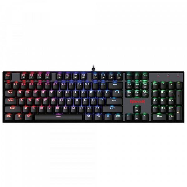 Teclado Gamer Redragon Mecânico Mitra com Anti-Ghost K551 RGB ABNT2 Switch Outemu Vermelho