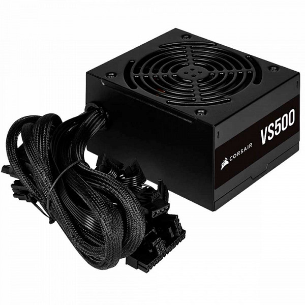 Fonte Corsair 500W 80 Plus White VS500 - CP-9020223-BR