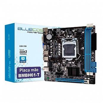 Placa Mãe Atx Ddr3 16gb Lga 1155 Vga Hdmi Bmbh61-t Bluecase