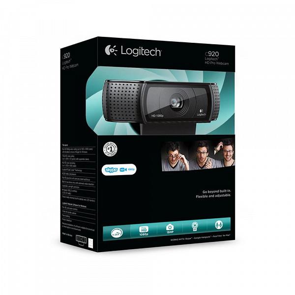 WebCam Logitech C920 Pro Full HD para Chamadas e Gravações em Video Widescreen 1080p