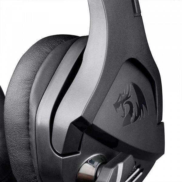 Headset Gamer Redragon Theseus, 3.5mm + USB, Black, H250