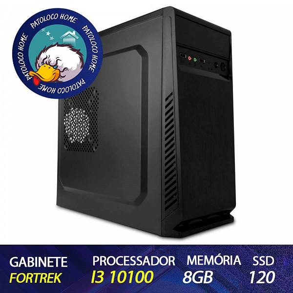 Computador Patoloco (Home) i3-10100, 8GB DDR4, SSD 120