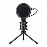 Microfone Gamer Streamer Redragon Quasar C/ Tripé, USB, Black, GM200