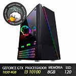 Computador Gamer Patoloco Crazy (Moba) i3-10100, GTX 1650 4GB, 8GB DDR4, SSD 120