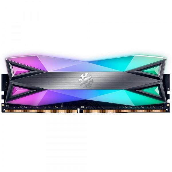 Memória XPG Spectrix D60G RGB 8GB, 3000MHz, DDR4, CL16, Cinza - AX4U300038G16-ST60