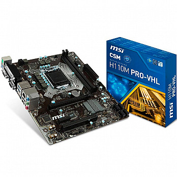 Placa-Mãe MSI p Intel Lga 1151 mATX H110M Pro-VHL ddr4
