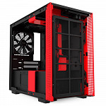 Gabinete Gamer NZXT H210, Mini Tower, com FAN, Lateral em Vidro, Preto/Vermelho - CA-H210B-BR