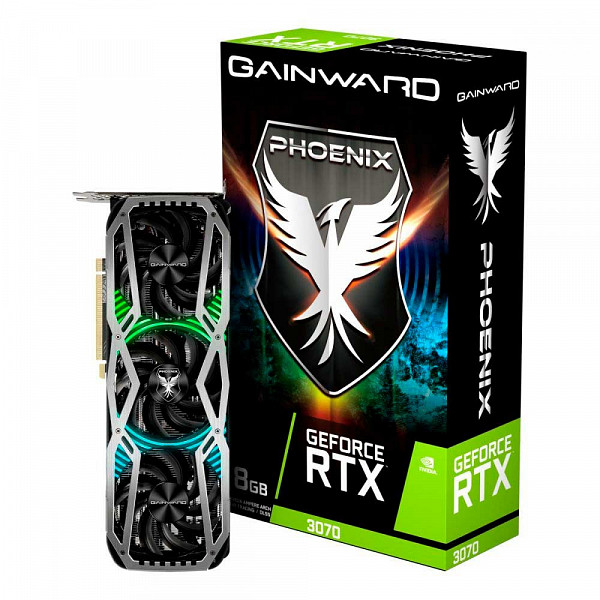 Placa de Vídeo Gainward, GeForce RTX 3070 Phoenix, 8GB, GDDR6, 256Bit, NE63070019P2-1041X - LHR