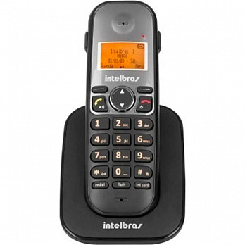 Ramal Sem Fio Intelbras Ts 5121 Preto Intelbras Ts5121 Viva Voz Identificador De Chamadas E Dect 6.0 - Open-Box
