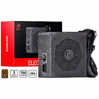 Fonte PCYes Electro V2 750W, 80 Plus Bronze - ELECV2PTO750W