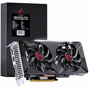 Placa de Video Nvidia Geforce Gtx 1660 Dual Oc Gddr5 6Gb 192 Bits Dual Fan - Pp1660Oc19206G5