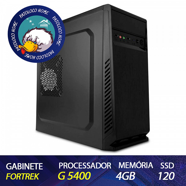Computador Patoloco (Home) G5400, 4GB DDR4, SSD 120