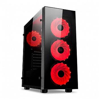 Gabinete Gamer Redragon Sideswipe, Mid Tower, Com 4 Fans RGB, Vidro Temperado, Black, S-Fonte, GC-601