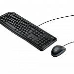 Teclado e Mouse Logitech MK120 Resistente à Água 1000DPI Preto ABNT2 - 920-004429
