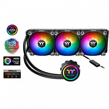 WaterCooler Thermaltake Water 3.0 360 ARGB Sync/Braided Tube - CL-W234-PL12SW-A*