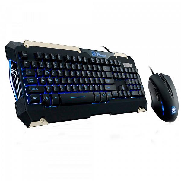 Teclado e Mouse Gamer Commander Thermaltake KB-CMC-PLBLPB-01