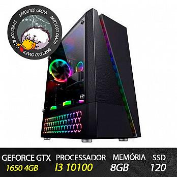 Computador Gamer Patoloco Crazy (Moba) i3-10100, GTX 1650, 8GB DDR4, SSD 120