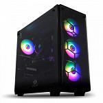 Gabinete Gamer Redragon Wheel Jack Vidro Temperado Black GC-606BK-RGB com 4 fans RGB