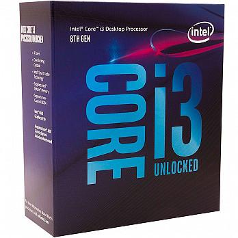 Processador Intel i3-8350k Coffee Lake 8a Geração, Cache 8MB, 4.0GHz, LGA 1151 Intel UHD Graphics 630 - BX80684I38350K