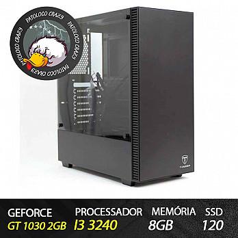Computador Gamer Patoloco Crazy (Moba) Intel Core i3 3240, GT 1030 2GB, 8GB DDR3, SSD 120