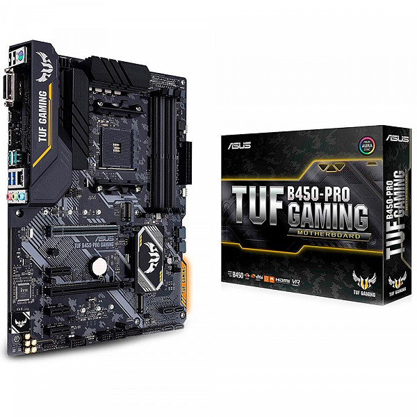 Placa-Mãe Asus TUF B450-Pro Gaming AM4 90MB10C0-M0EAY0