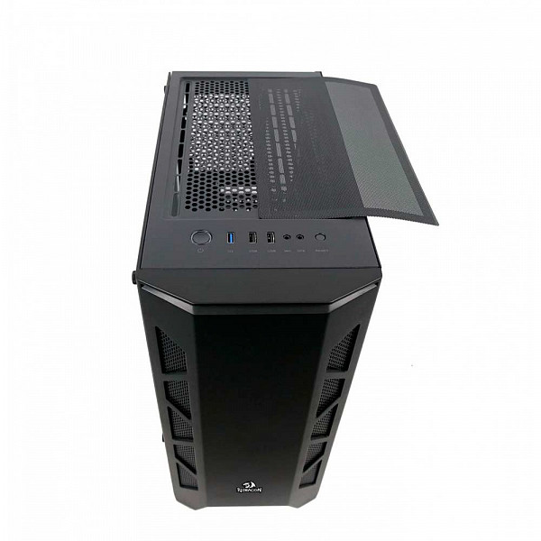 Gabinete Gamer Redragon Starscream, Mid Tower, Vidro Temperado, Black, Sem Fonte, Sem Fan, GC-610B