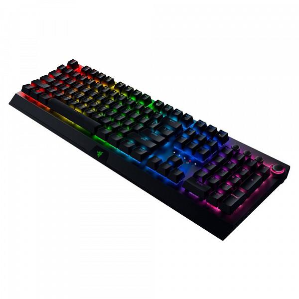 Teclado Sem Fio Mecânico Gamer Razer BlackWidow V3 Pro, Chroma, Razer Switch Yellow, US - RZ03-03531700-R3M1