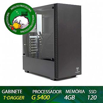 Computador Patoloco (Escritório) G5400, 4GB DDR4, SSD 120