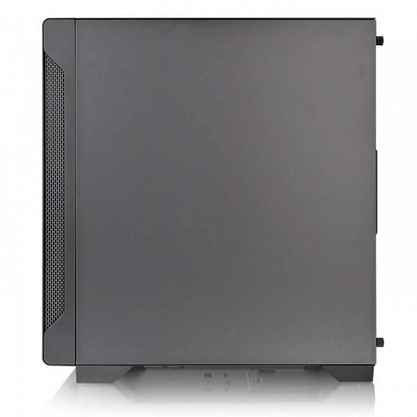 Gabinete Gamer ThermalTake S100, Mini Tower, Vidro Temperado, Black, ATX, Sem Fonte, Com 1 Fan, CA-1Q9-00S1WN-00