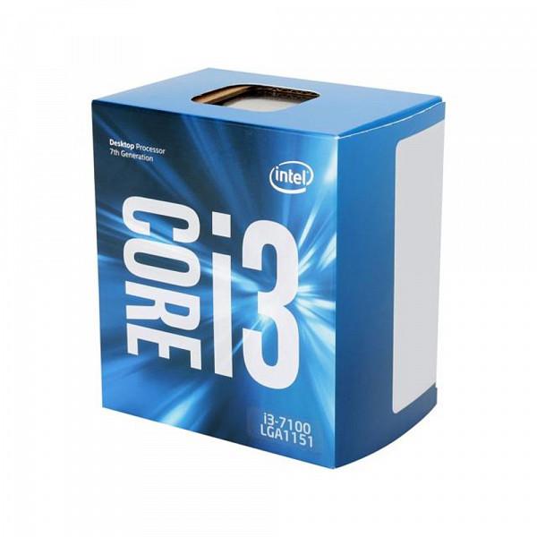 Processador Intel Core i3-7100 Kaby Lake 7a Geração, Cache 3MB 3,9GHz LGA 1151 Intel HD Graphics BX8 BX80677I37100