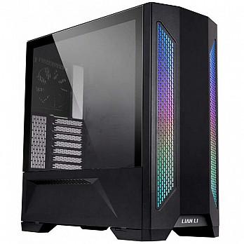 Gabinete Gamer Lian Li Lancool II RGB, Mid Tower, Vidro Temperado, black, Sem Fonte