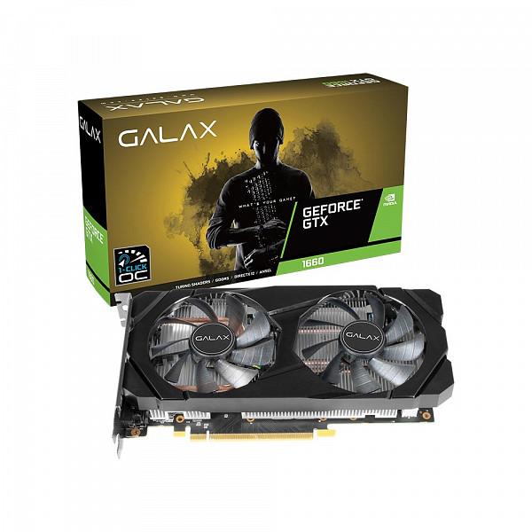 Placa de Video Geforce GTX1660 6GB 1CLICK OC G5 192B GALAX