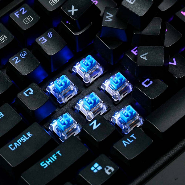Teclado Mecânico Gamer Óptico Redragon Magic-Wand Switch Outemu Blue DIY RGB Abnt-2 - K587RGB-PRO (Blue)
