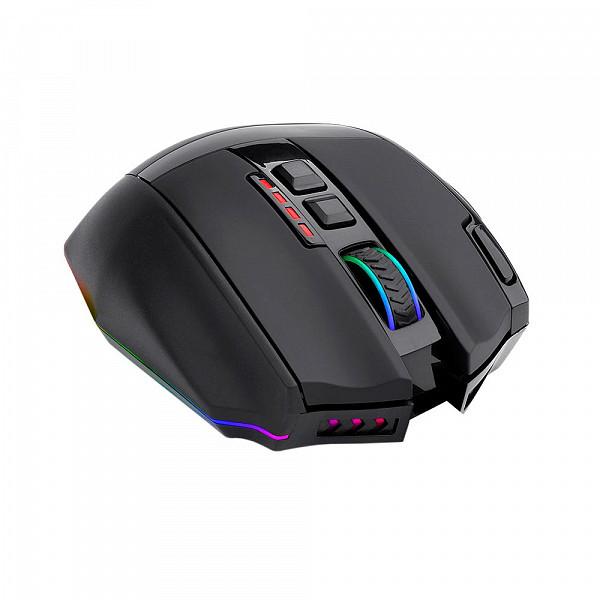 Mouse Gamer Redragon Sniper Pro, RGB, 16000DPI, 9 Botões, Sem Fio, Programáveis Macro - M801P-RGB