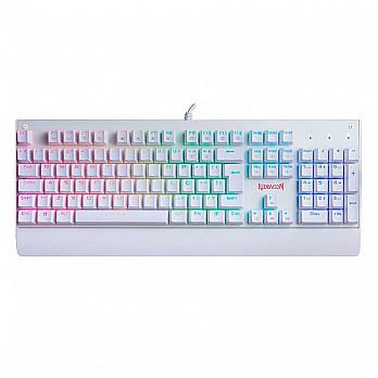 Teclado Mecânico Gamer Redragon Kala Lunar White K557W, RGB, Switch Blue, ABNT2