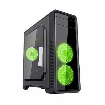 Gabinete Gamemax ECO G561F Preto - Led Verde