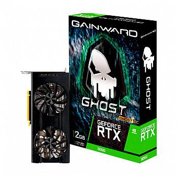 Placa de Vídeo GAINWARD GeForce RTX 3060 Ghost OC 12GB GDDR6 192Bits - NE63060T19K9-190AU*