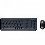 Teclado Microsoft Multimídia  + Mouse Optico Wired Desktop 600 Preto APB-0005