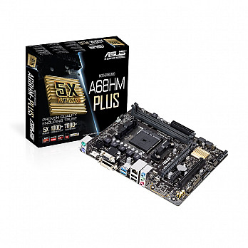 PLACA MÃE ASUS A68HM-PLUS FM2+ 90-MB0L40-M0EAY0 - AMD
