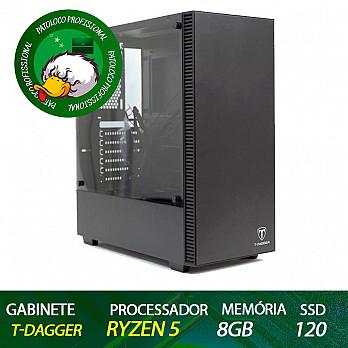 Computador Patoloco (Escritório) Ryzen 5 2600, 8GB DDR4, SSD 120